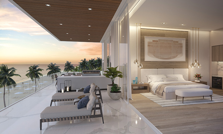 Sage Longboat Key Renderings - Master Bedroom