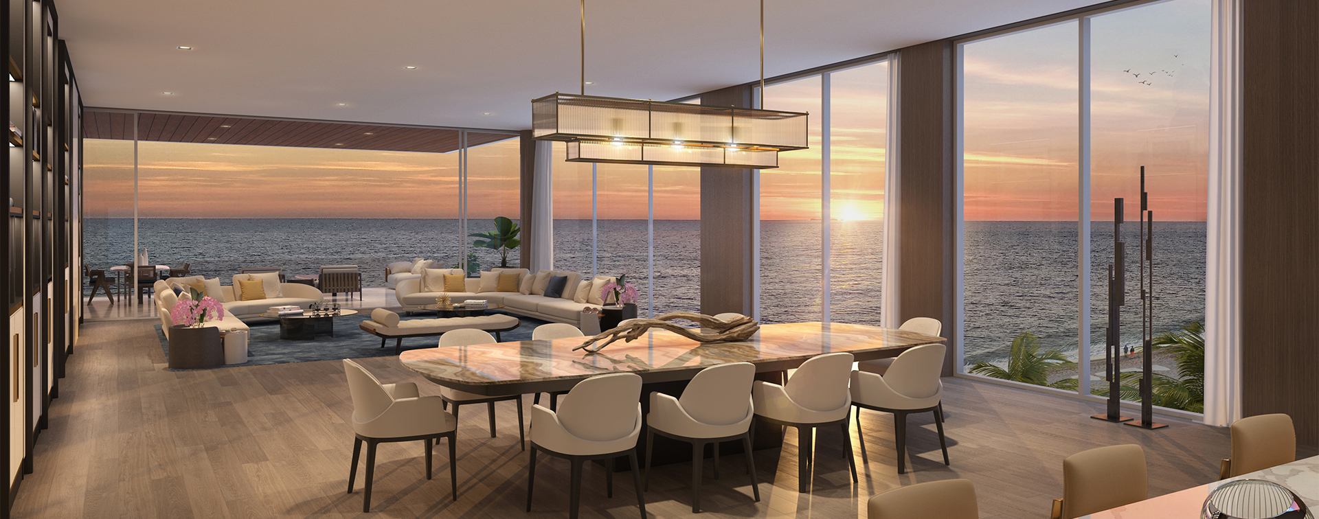 floor-to-ceiling glass at Sage Residences offer spectacular ocean views